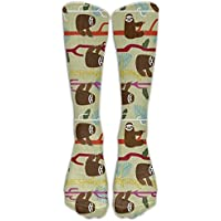 pigyear888 Cute Sloth Unisex Funny Pattern Crew Socks Stockings Boy's Girl's