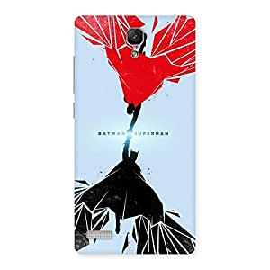 Day Vs Knight Punch Back Case Cover for Redmi Note Prime