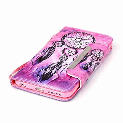 Owbb Filp PU Housse Coque Étui avec magnetic buckle protection pour iPhone 6 Plus / 6S Plus (5.5 pouces) Smartphone -fleur blanc Color 10