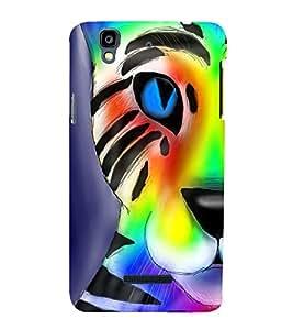 animated glowing tiger face 3D Hard Polycarbonate Designer Back Case Cover for YU Yureka Plus::Micromax Yureka Plus