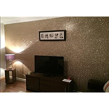 Chunky Glitter Wallpaper Sample Grade 3 Gold