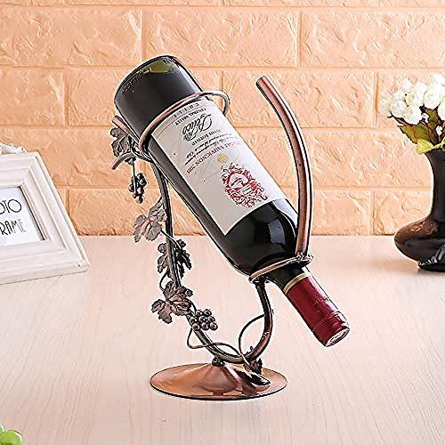 LJXLXY Europäische Schmiedeeisen Weinregal Weinregal Nordic Home Storage Wohnzimmer Weinschrank Hause Weinschrank Indoor-Küche Display Rack Dekoration Geschenk Kunst Büro -