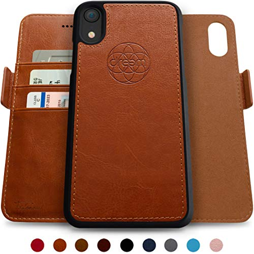 98ed94728 Dreem Fibonacci 2-in-1 Wallet-Case for iPhone XR Magnetic Detachable  Unbreakable TPU Slim-Case, Wireless Charge, RFID Protection, 2-Way Stand,  Luxury Vegan ...
