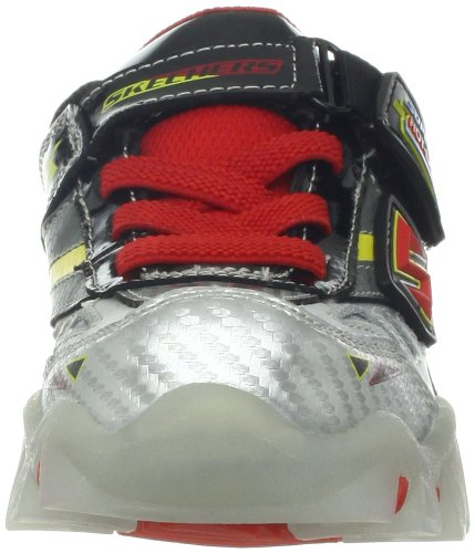 Skechers Street LightzHalt Jungen Sneakers Schwarz (BKSR)