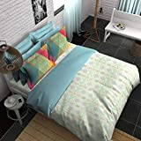 Boutique Living India 3RDDIMENSION 210TC with 2 Pillow Cover King Size (274 cm x 274 cm) Bedsheet
