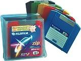 Fujifilm 100 MB Zip Disk Mac Formatted (5-Pack, Assorted Colors)