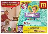 Pampers Baby dry Größe 4 (7-18 kg) 171 Windeln mit box Spielzeug-Shop Geschenk