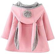 ARAUS-Baby Mädchen Mäntel aus Baumwolle Frühlung Herbst Winter Jache mit Kapuze Kleinkinder Warm Kleidung Pink 73