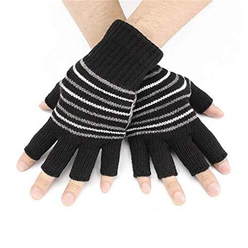 NIGHT WALL Männer und Frauen Studenten USB elektrische Handschuhe Büro Winter Winter Gestrickte Thermische Handschuhe, schwarz (Thermische Winter Handschuhe)