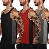 COOFANDY Tank top Herren 3er Pack Sporttanktops Fitness Muskel Shirt Bodybuilding Training Sport ärmelloses T-Shirt