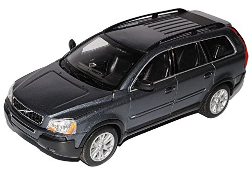 volvo-xc90-grau-suv-1-generation-2002-2015-1-24-welly-modell-auto-mit-individiuellem-wunschkennzeich
