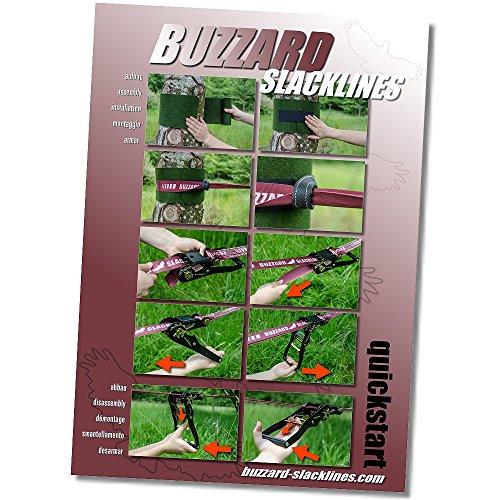Buzzard Easy-Line Slackline-Set, 15 m lang, 5cm breit + Baumschutz - 4