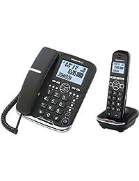 Daewoo DTD-5500 - Teléfono combo con manos libres, Dect+Hilos