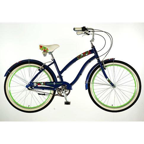 Dawes Poppy Damen 3Speed Shimano British Cruiser Bike Blau blau 43 cm (Cruiser 3 Speed)
