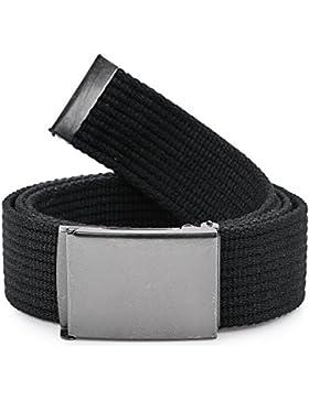 Ladeheid Cinturón de tela para hombre 120 cm x 4 cm P10