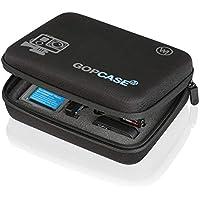 Wicked Chili GOP Case Tasche für GoPro Hero 7 / 2018 / 6 / 5 / 4 / 3 / QUMOX SJ4000 / Yi 4k 2k Koffer Bag Tragetasche für Kamera, LCD und Zubehör (Größe: M, Tragegriff, Fach mit Reißverschluss)