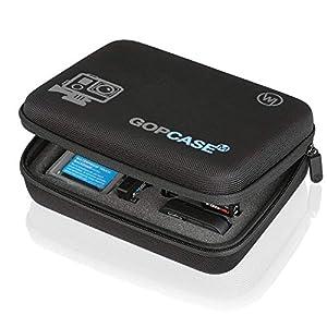 Wicked-Chili-GOP-Case-fr-GoPro-Hero-3-3-2-1-Tasche-fr-Kamera-Gehuse-LCD-Backpack-Akku-SD-Karte-WiFi-Remote-Floaty-Backdoor-und-Zubehr-Gre-M-schwarzblack-mit-Utensilienfach-und-Trageriemen
