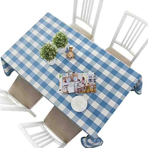Baumwolle Leinen Tischdecke Wasserdicht Kunst Blau Weiß Karierten Rechteckigen Couchtisch Esstisch Schreibtisch Mit Tischtuch,140 * 240CM (Blau Und Weiß Karierten Kunststoff-tischdecke)