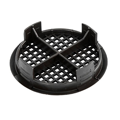 4 x 70 mm Kunststoff schwarz Runde Soffit Air Vents / UPVC Schiebepassung Eaves Platten Fascia