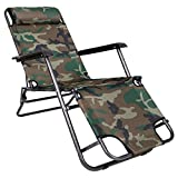 #3: Story@Home Folding Reclining Lounge Chair For Camping Garden, Beaches, Sunbathing Outdoor Portable Relax Chair, Camo
