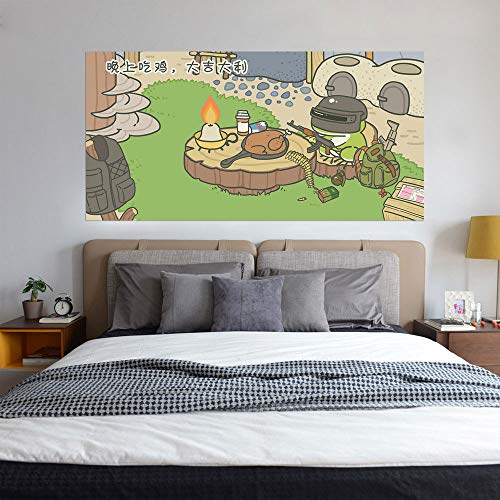 Wandaufkleber Wandtattoo Wohnzimmer3D Wall Art Stickers Space Wall Stickers Wall Muralstravel Frog Eats Chicken Plate, Creative Bedside, Personalized Home Decoration, W