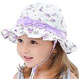 Snyemio Bambina Cappello da Sole Pescatore in Cotone Estivo da Spiaggia Stampa Floreale Cappellino