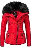 Marikoo Damen Jacke Winterjacke Steppjacke Marta (vegan hergestellt) Rot Gr. XXL