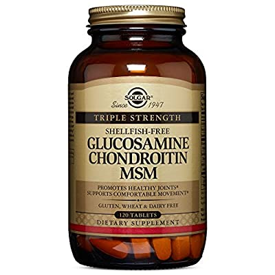 Solgar Extra Strength MSM Glucosamine Chondroitin Tablets - Pack of 120 from Solgar