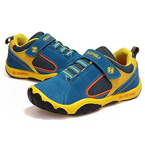 SaiDeng Beiläufig Unisex Kinder Sportschuhe Sneaker Laufschuhe Outdoor Schuhe Rutschfeste See Blau