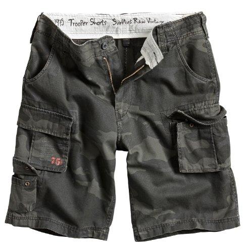 Surplus Trooper Cargo Shorts Oversize, blackcamo, Groesse 3XL