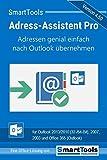 SmartTools Adress-Assistent 4.5 Pro - Adressen blitzschnell nach Outlook übernehmen aus E-Mail-Signaturen, Webseiten, PDF-Dateien, Word-Dokumenten usw. - einfach markieren und direkt einfügen in Outlook 2013/2010 (32- und 64-Bit), 2007, 2003 und Office 365