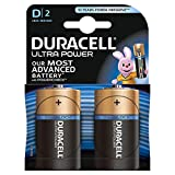 Duracell Ultra Power Typ D Alkaline Batterien, 2er Pack