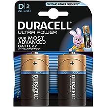 Duracell Ultra Power Typ D Alkaline Batterien, 1er Pack (1 x 2 Stück)