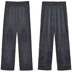 oobest Pantalon de Pyjama en Peluche pour Femmes - Hiver Chaud - Bas de Pyjama Confortable en Velours de Velours Moelleux S-3XL