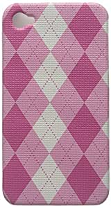 Eagle Cell PIIPHONE4F406 Stylish Hard Snap-On Protective Case for iPhone 4 - Retail Packaging - Pink Argyle