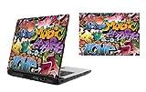17 Zoll Laptop Vinyl Skin / Aufkleber - Graffiti Bomben Design