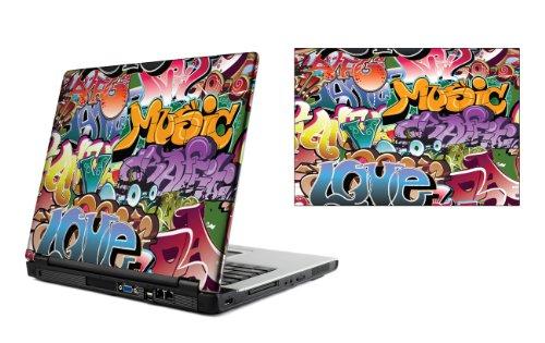 15,4 Zoll Laptop Vinyl Skin / Aufkleber - Graffiti Bomben Design