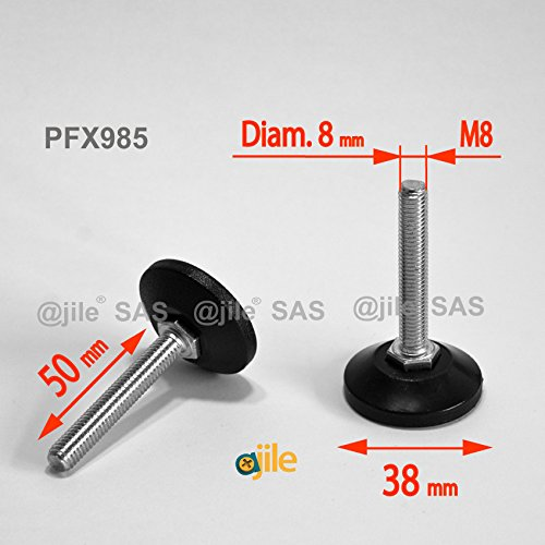 ajile-1-pieza-pie-nivelador-ajustable-con-base-redonda-rosca-diametro-8-mm-m8-largo-50-mm-acero-galv