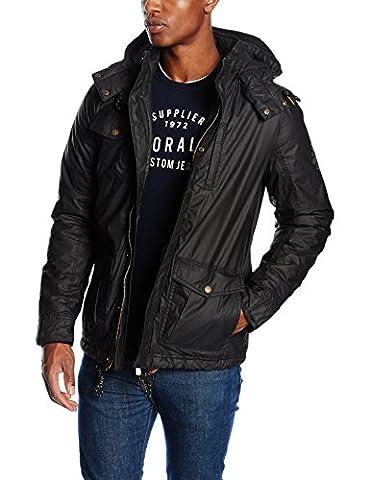 Kaporal Barka, Manteau Homme^Homme, Noir (Black), X-Large (Taille Fabricant: XL)
