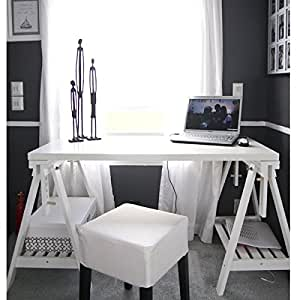ikea schreibtisch mit trestles linnmon white regal. Black Bedroom Furniture Sets. Home Design Ideas