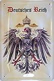 Deutsches Kaiser Reich Wappen Blechschild Gewölbt Neu 20x30cm VS2101