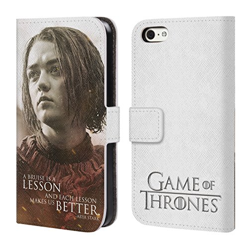Offizielle HBO Game Of Thrones Jon Snow Character Portraits Brieftasche Handyhülle aus Leder für Apple iPhone 6 Plus / 6s Plus Arya Stark