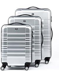 FERGÉ Conjunto de tres maletas NICE - ABS & PC - 3 trolley rígidas - 3 sizes - equipaje con 4 ruedas (360) para (51 x 77 x 30 cm)