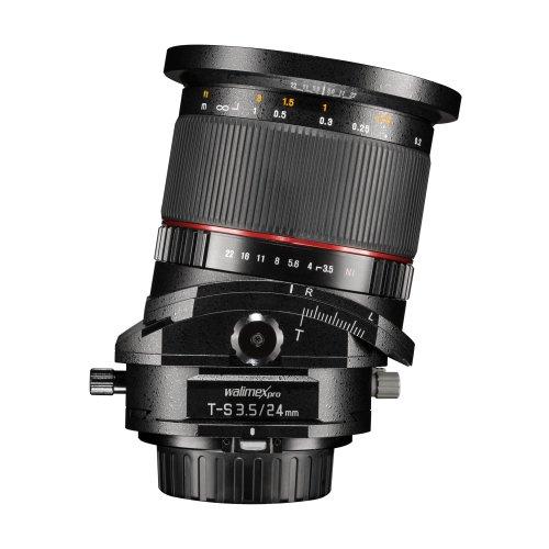 Walimex Pro 24 mm f/3.5 DSLR Tilt-Shift Objektiv für Four Thirds Objektivbajonett schwarz