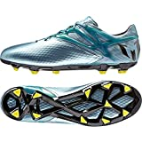 adidas Performance Messi 15.1 FG/AG, Herren Fußballschuhe, Silber (Matte Ice Metallic/Bright Yellow/Core Black), 43 1/3 EU (9 Herren UK)