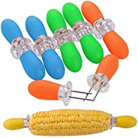ZeWoo Conjunto de 12 Barbacoa Tenedores para Mazorcas de Maíz Acero Inoxidable Brochetas Pinchos de Fruta (multicolor)