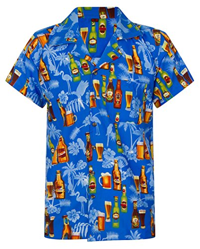 Beer-Shirt-Hawaiian-Shirt-Mens-Loud-Aloha-Casual-Alcohol-Stag-Beach-Party-S-XXL
