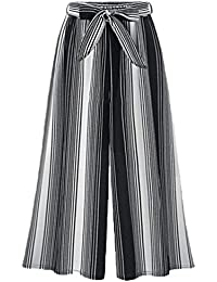 e60f5f962c Mujer Pantalones Baggy Vintage Moda Flecos Pantalones Falda Elegantes  Cintura Alta Anchas Aireado Basicas Cómodo Pantalones