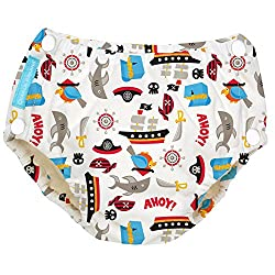 Charlie Banana Reusable Easy Snaps Swim Diaper Large - Pirate