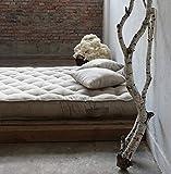 Home of Wool/Handgefertigt 100% Wolle gefüllt Matratze/Mattress / SINGLE/SINGLE XL/DOUBLE / KING oder benutzerdefinierte Größe/Baumwolle, Leinen, Mischung, Wolle/Natürliches Bett